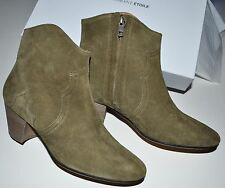 Isabel Marant Dicker Boots in Light Brown Suede Leather Size FR 39.5  39 1/2