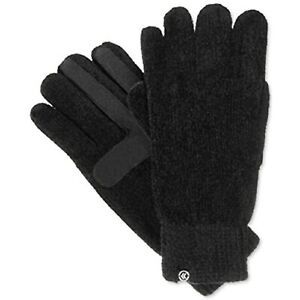 $36 Isotoner Signature Chenille Knit Palm Smart Touch Tech Gloves One Size NWOT