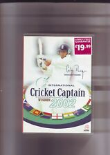 INTERNATIONAL CRICKET CAPTAIN 2002 - WISDEN PC GAME - ORIGINAL & COMPLETE - VGC