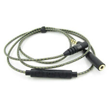 Copper upgrade Extension Cable 2.5(f) to 3.5(M) Sennheiser IE8 IE80 mic Control