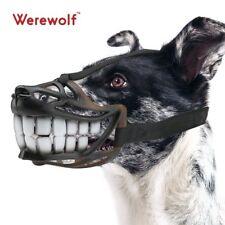 Dog Muzzle Werewolf Smile Design Adjust Metal Buckle Unti-Biting Chewing M Size