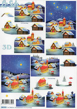 3D Motivbogen Etappenbogen mit vorgestanzten Motiven Weihnachtsdorf (031)