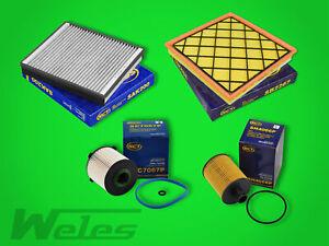 kl Inspektionspaket Filterset Filtersatz Opel Zafira C 2.0 CDTI 125kW//170PS