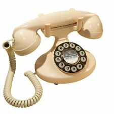 Vintage GPO Art Deco Ivory Telephone Retro Antique Dial Phone Rotary Dial Ringer