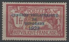 "FRANCE STAMP TIMBRE N°182 "" CONGRES PHIL BORDEAUX MERSON 1923"" NEUF xx TTB  P147"