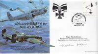 MF11 Nuremberg Raid Halifax Bf110 RAF cover signed Luftwaffe ace DREWES KC