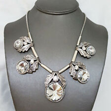 NEW * Silver Masino Collection Penta Artical Clear Gemstone Necklace