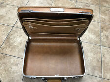 """Vintage American Tourister Brown Suitcase Briefcase Small W/Lock 19""""X 13""""X 5"""""""