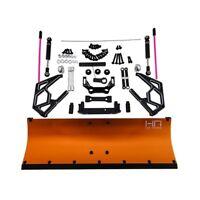 Hot Racing SCX1213P03 Complete Orange Aluminum Snow Plow Kit Axial SCX10 II