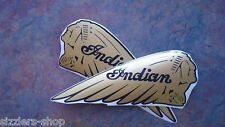 Gas Tank decals INDIAN TEXT gold over black Kawasaki Drifter CHIEF motorcycle
