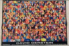"""David Gerstein """"AUDIENCE"""" Installation Poster Israel Festival Eliezer Klagsbrun"""