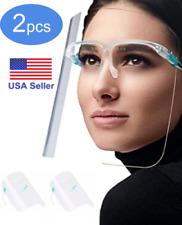 2 SETS Full Face Shield Mask Washable Cover Glasses Anti-Splash Guard