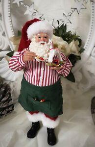 Santa Claus Decorative Figurine Christmas Shabby Vintage