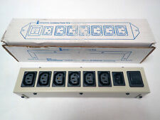 """INTERPOWER / PCC ACCESSORY POWER STRIP 10AMP, 250V, IEC, 6 OUTPUTS, 12.5"""" NEW!"""