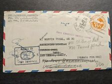 APO 750 ORAN, ALGERIA 1944 Censored WWII Army Cover to USS ST. GEORGE AV-16