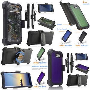 Samsung Galaxy J3 2017/ Prime/Emerge Belt Clip Holster Kickstand Hard Cover Case