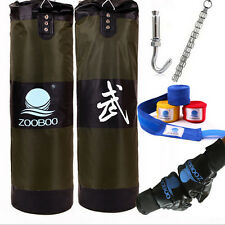 MMA Boxing Heavy Punching Training Practice Sand Bag(Empty) with  4 Parts Set