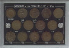 More details for 1925-1936 king george v halfpennies halfpenny coin collector collecting gift set