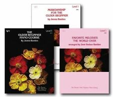 NEW Bastien The Older Beginner Piano Level 1 Library Set - Three Book Pack
