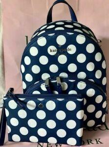 Kate Medium Karissa Seaside Nylon Backpack and Double Zip Wristlet NWT
