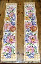 10 x Decorative Floral Fireplace Tiles 15cm x 15cm