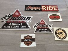 ��Rarität Harley Indian Gilroy Motorcycle Motocycle seltenes Aufkleber Set 1 NOS