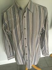 Jaeger Mens Striped  Long Sleeve Shirt Size M. Great Condition.