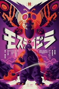 Mondo MOTHRA VS GODZILLA Tom Whalen Screenprinted Poster LE125 Pre-order