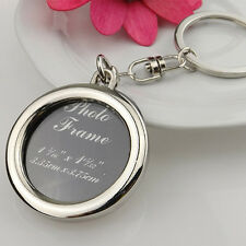 NEW Circle Photo Key Ring Key Chain Keyring Car Keychain Metal Pendant Charm
