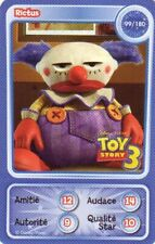 CARTE COLLECTOR DISNEY PIXAR AUCHAN 2010 NUMERO 99 RICTUS TOY STORY 3