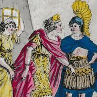 Gravure XVIIIe Helène Ἑλένη Helénê Helen of Troy Elena Helena Trojańska 1793