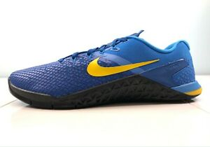 Nike Metcon 4 XD Trainin Shoes Team Royal/Amarillo Blue BV1636-474 Men's Size 10