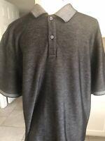 Calvin Klein Men's Short Sleeve Size L Cotton Polyester Blend Black Polo Shirt