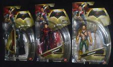 Batman v Superman BATMAN, Heat Vision SUPERMAN & AQUAMAN Action Figures