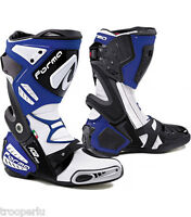 FORMA BOOTS RACE SPORT ICE PRO MOTORCYCLE BOOTS BLUE CE APPROVED #FORV22011
