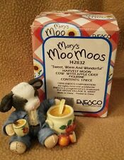 "*MARY'S MOO MOOS FIGURINE 1995 ""Sweet, Warm And Wonderful"" Harvest Moon #142832"