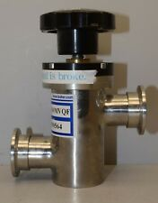 Lesker Manual Bellows Inline Valve SL0100MVQF  ++