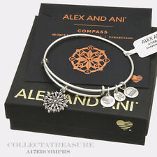 Authentic Alex and Ani Compass (iii) Rafaelian Silver Charm Bangle