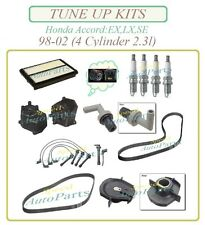 TUNE UP KIT 98-02 ACCORD EX LX SE 2.3L4: Spark Plug Cap Rotor WireSet Filters PC