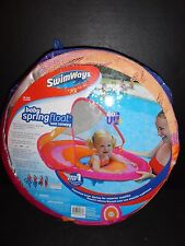 Swimways Baby Spring Float Sun Canopy Pink/Orange Color New