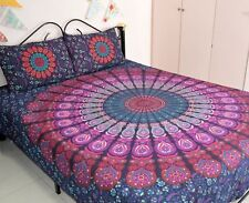 Indian Cotton Bedding Bed Cover Tapestry Wall Hanging Bedspread Coverlet Throw