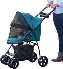 Pet Gear PG8030NZPG Happy Trails Lite NO-ZIP Pet Stroller- Pine Green NEW