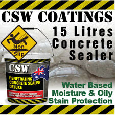 15L Concrete Sealer - Moisture & Oily Stain Protection - Non Slip - Water Based