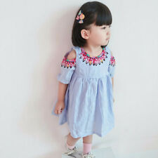 Toddler Kids Baby Girls Princess Dress Party Prom Wedding Bowknot Tutu Dress UK