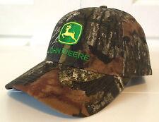 John Deere Mossy Oak Camo All Fabric Hat Cap w Vintage Logo