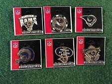 "St. Louis Rams Peter David Pin Coillection! 6 Individual Pins! ""Free Shipping"""