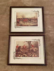 Pair Of Framed Vintage Hunting Scene Prints