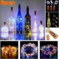 1/3/6x LED Cork with 20 Lights Bottle Stopper Lamp For Wedding Events Decoration