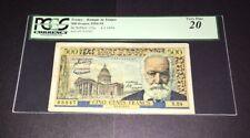 PCGS Currency Graded Banque De France 500 Francs 1954-55 P133a