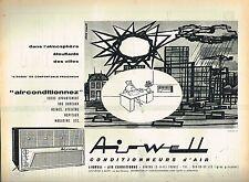 J- Publicité Advertising 1961 Airwell air conditionné par Jean Colin